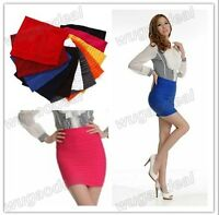 Candy Colors Girl Women Lady Mini Skirt Slim Fit Seamless Stretch Tight Fitted