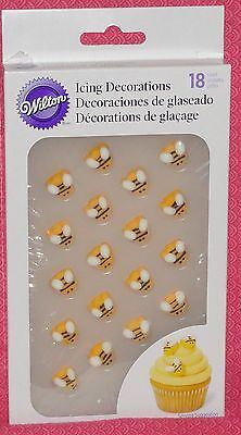 Bee,Bumble,Edible Sugar Cookie/Cupcake Toppers,Wilton,Yellow,710-2916,Decoration