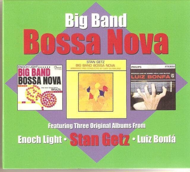 BIG BAND BOSSA NOVA - 3 CD BOX SET - STAN GETZ, LUIZ BONFA & ENOCH LIGHT