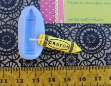 Moule Silicone Crayon  - pour Fimo, résine, pâte à sucre,porcelaine froide