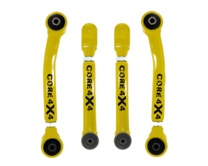 Adjustable Control Arms Front Set T1 Wrangler TJ 1997-2006 Yellow