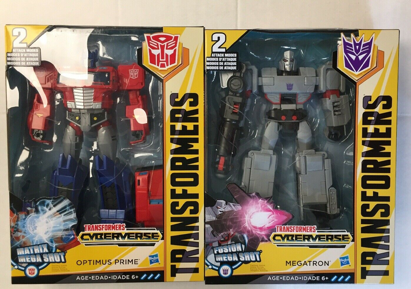 Lote 4 –, Transformers Optimus Prime y Megatron, Cyberverse Class 11  Ultimate