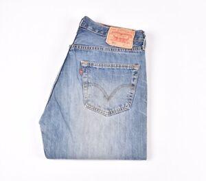 Levi-039-s-501-Blau-Herren-Jeans-in-Groesse-32-34