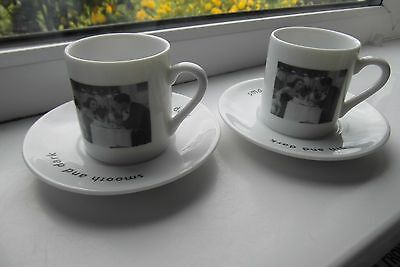 Whittard Expresso Coffee Cups & Saucers x 2 British