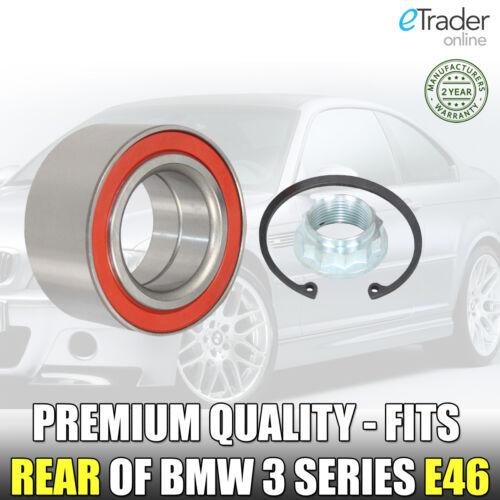 BMW 3 SERIES E46 316 318 320 323 325 328 REAR WHEEL BEARING 1998/> Onwards NEW