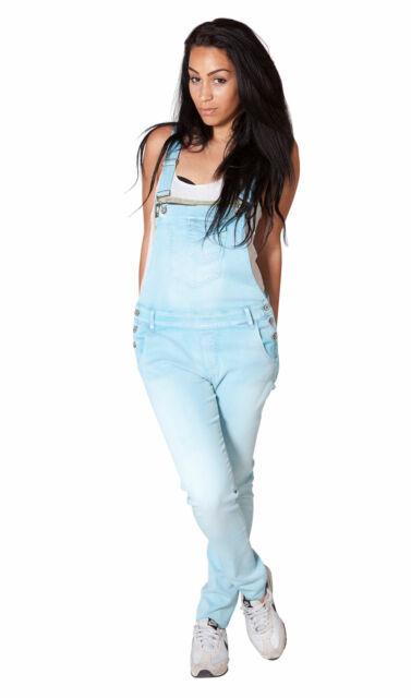Lightweight Sky Blue Dungarees Womens summer dungarees Size 6-14 denim onsie