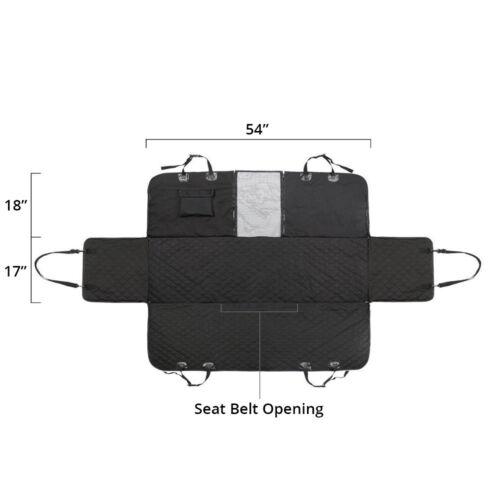 Pet Dog Car Rear Seat Cover Hammock Waterproof  Universal  fit 2 dog Seat Belts