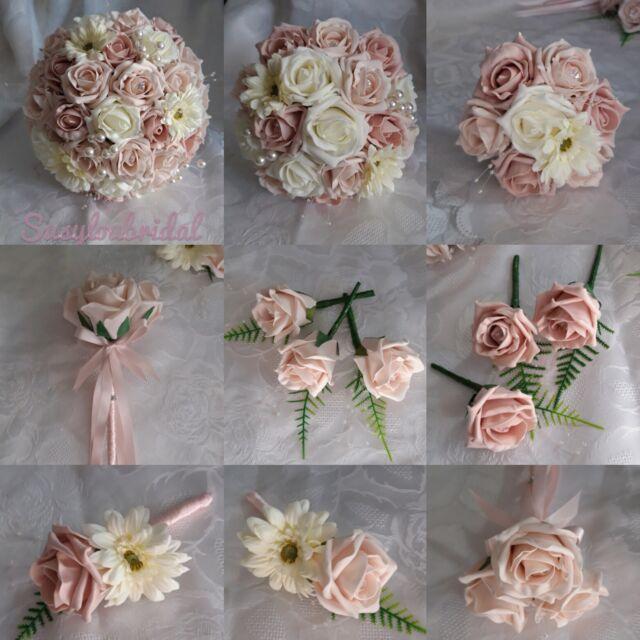 WEDDING FLOWERS NAVY BLUE ROSES GROOM BESTMAN GUEST BUTTONHOLE LADIES CORSAGE