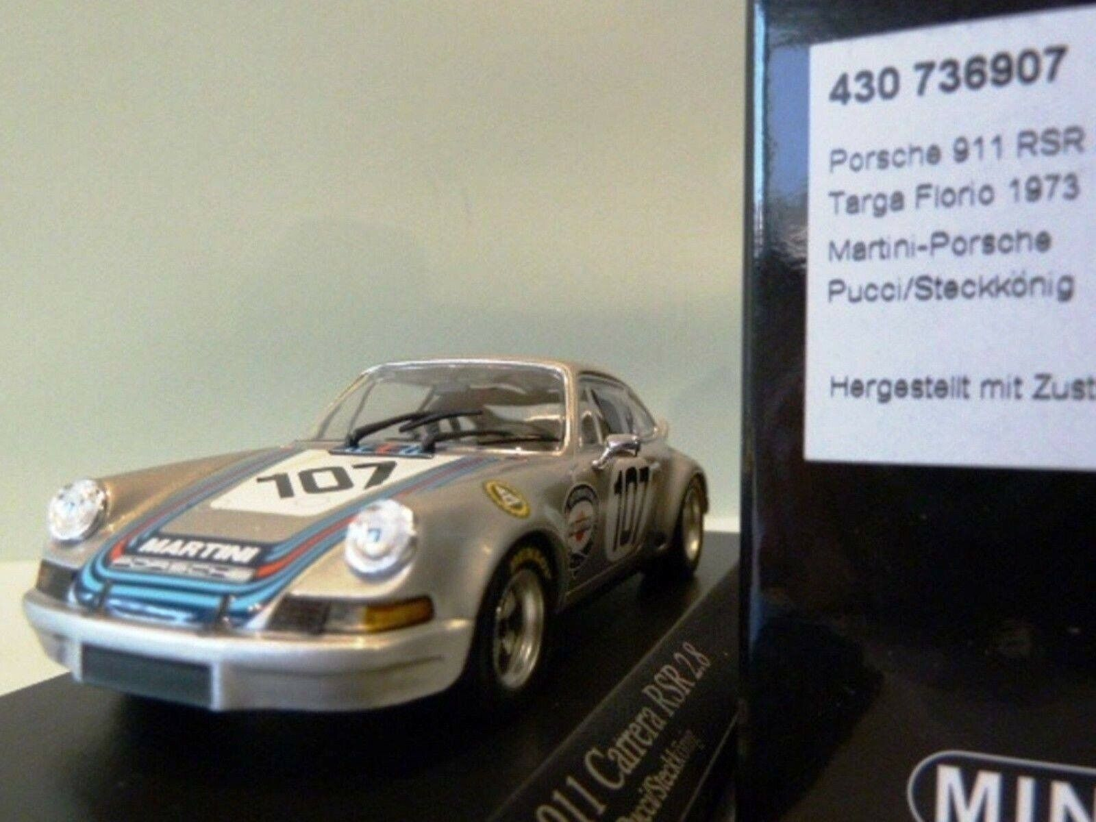 WOW EXTREMELY RARE Porsche 911 RSR 2.8 Martini Targa Florio 1973 1 43 Minichamps