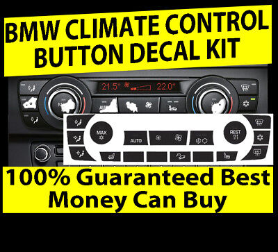 AC Climate Control Buttons Decals Repair Set For BMW E90 E91 E92 330I 2006-2011