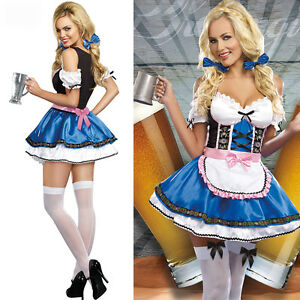 Beer-Girl-Costume-Oktoberfest-Waitress-Cosplay-Halloween-Fancy-Dress-Stockings