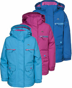 Trespass Gracy Girls Fleece Lined Jacket Insulated Waterproof ...