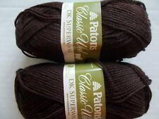 125 yds ea Patons Classic DK Superwash 100/% wool yarn lot of 2 Aran