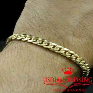 Image Is Loading 10k Yellow Gold Mens Womens Solid Cuban Curb
