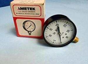 """AMETEK 47104 0-30 PSI 2 1/2"""" FIG. V-500 PRESSURE GAUGE, NEW"""