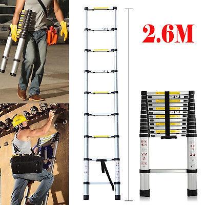 5M Portable Multi-Purpose Aluminium Telescopic Ladder Folding Extendable Ladder