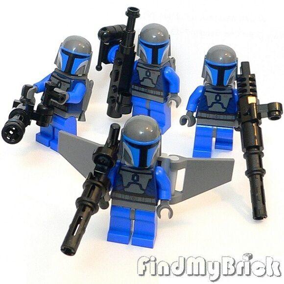 SW158 II x4 Lego Star Wars 4 X Antenne & Mandalorianer Trooper Minifiguren 7914
