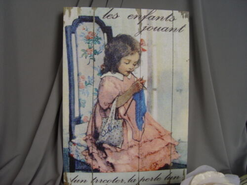 OLD FASHIONED FRENCH CHILD CANVAS PRINT