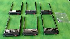 """HP Proliant 2.5"""" HDD SATA/SAS Tray/Caddy G5 G6 G7 w/ Screws 6 PCS 378343-002"""