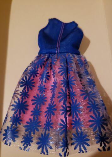 New 2018 TALL Fashionista  #100 BLUE floral print  Dress
