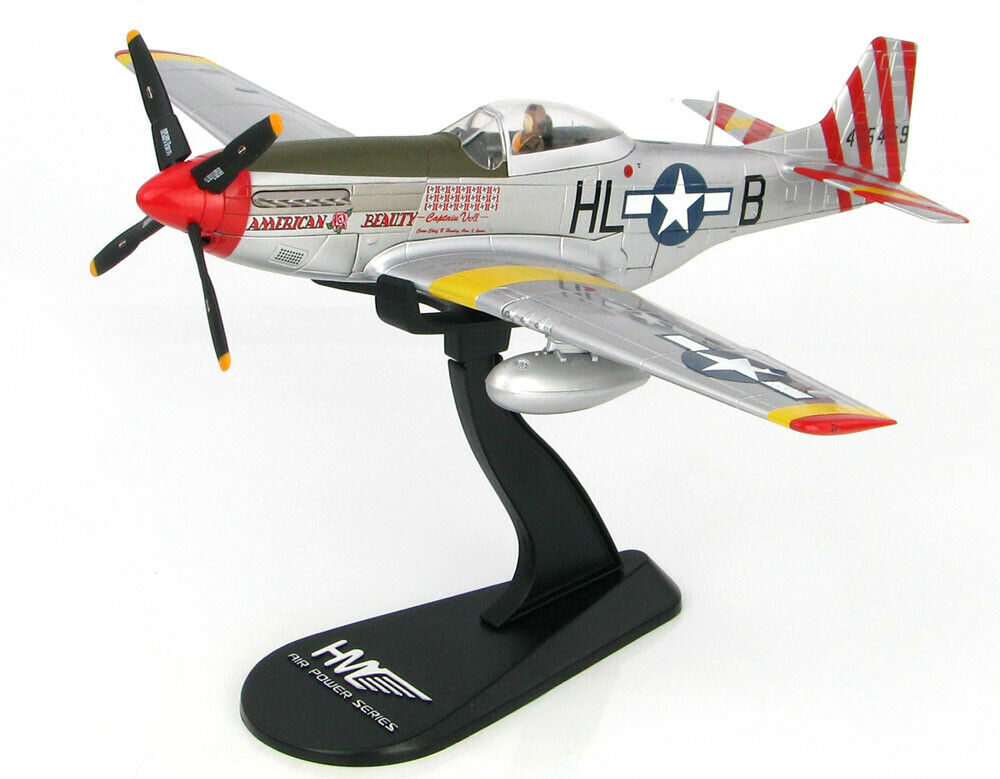 P-51 Mustang  American Beauty   - 1 48 Scale Diecast Metal Model by Hobby Master