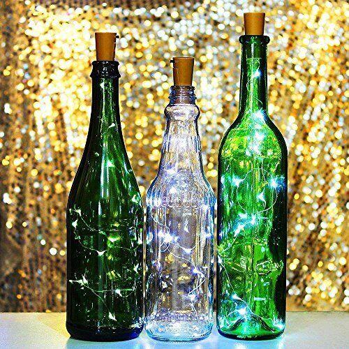 10 Stück Solar Weinflasche Kork geformt String Light 10LED Nacht Fairy Light