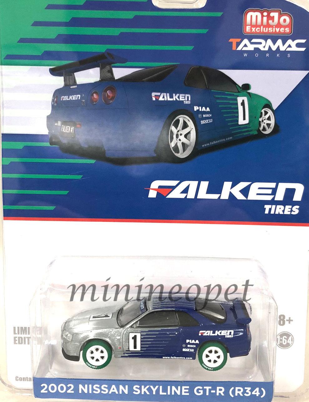 51150 Tarmac Works 2002 Nissan Skyline GT-R R34 FALKEN Neumáticos 1 64 Chase