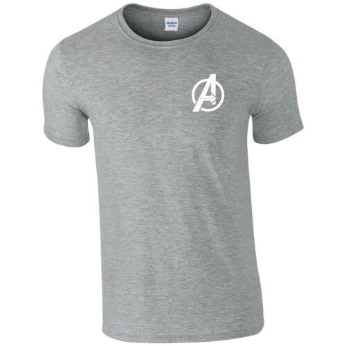 Avengers Endgame T Shirt Small A Logo Iron Man MCU Marvel Gift Kids Children Top