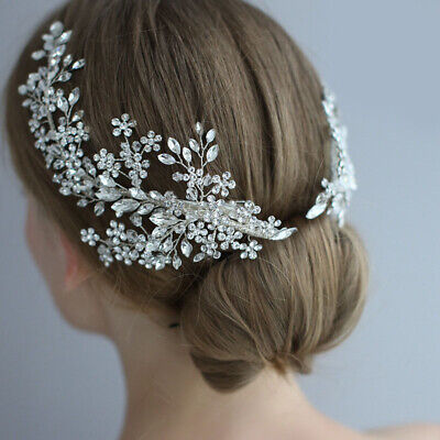 @pretty@Hand made Butterfly Crystal Hair clip//comb gold plated bridal kid gift