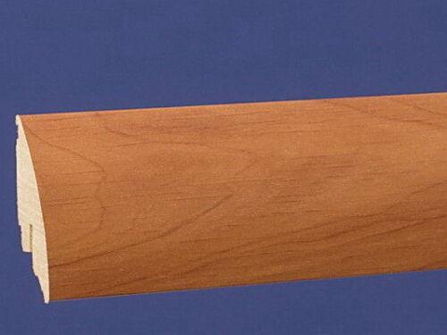 Kirsche Gebeizt 14,4 Meter Softline Sockelleisten 60mm Höhe