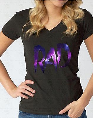 RAD Galaxy WOMEN V-NECK T-Shirt Fasion Radical Hipster Swag Surfer Skate