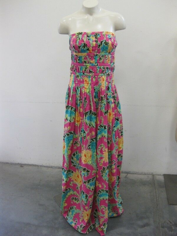 Suzanne Simon Strapless Cotton Sundress Sz 8 NWT   Retail