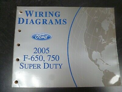 2005 Ford F650 F750 Super Duty Truck Electrical Wiring ...