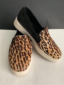 Womens-Sol-Sana-Leopard-Print-Casual-Slip-On-Shoe-Flats-Size-38-US-7-5-8