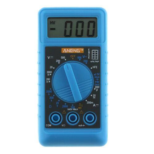 Mini DMM Digital Multi Meter OHM Test Voltmeter Ammeter with Buzzer Blue C#P5