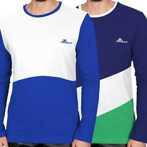 Mens-Winter-Sweatshirt-Jersey-Sleeve-Cotton-Crew-Neck-T-Shirt-Tops-Pullover