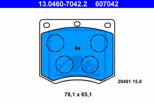 13.0460-7042.2 PER FORD TAUNUS GBTS, GBFS, c ATE Pinza Freno Set assale anteriore va