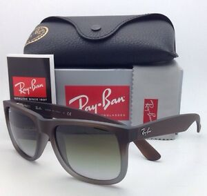 c35279994b Ray-Ban Sunglasses JUSTIN RB 4165 854 7Z 51-16 Rubber Brown on Grey ...