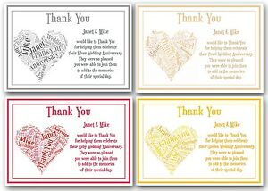 Personalised Silver Pearl Ruby Golden Wedding Anniversary Thank You
