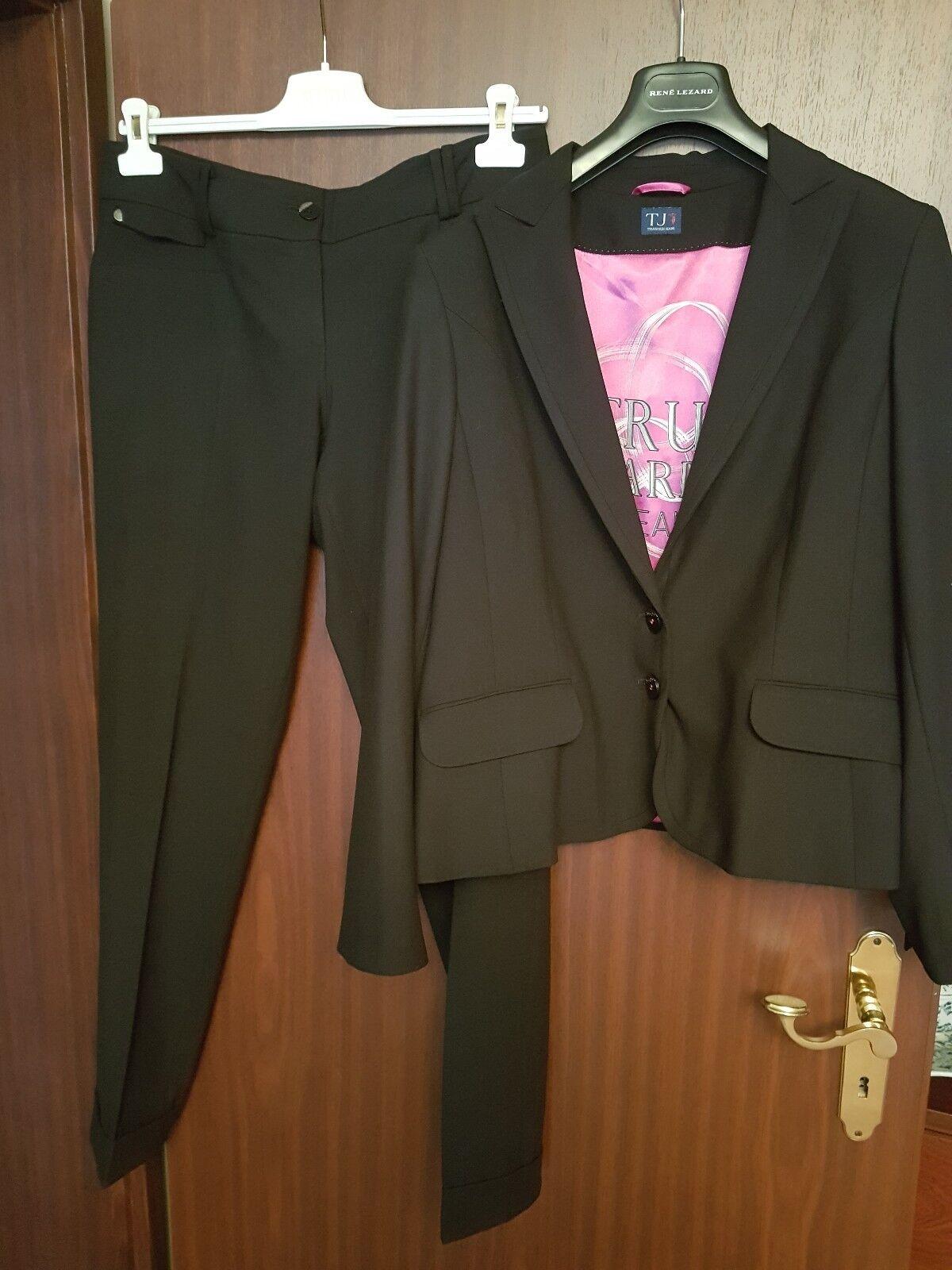 TRUSSARDI JEANS, schwarze taill-pantalon, Größe it48