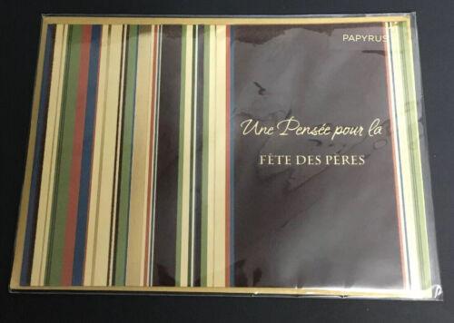 NEW Papyrus French Fête Des Pères Carte Francais Happy Father's Day Card SEALED