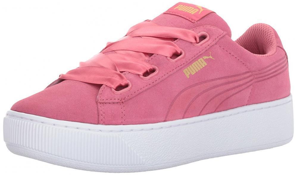 PUMA Women's Vikky Platform Ribbon Sneaker