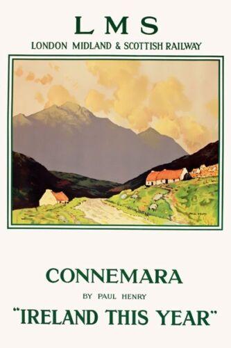 TX428 Vintage Connemara Irleand LMS Railway Travel Poster A2//A3//A4