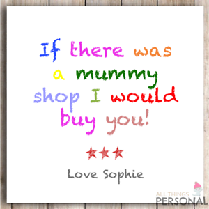 Mum Mummy Mom Christmas Card Birthday Mothers Mother/'s Day Card Funny Humour