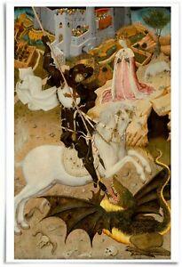 12x18-034-Poster-Saint-George-and-the-Dragon-Artist-Bernat-Martorell