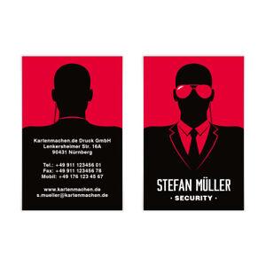 Details Zu Visitenkarten Individuell Business Karten 300g Qm 85 X 55 Mm Security