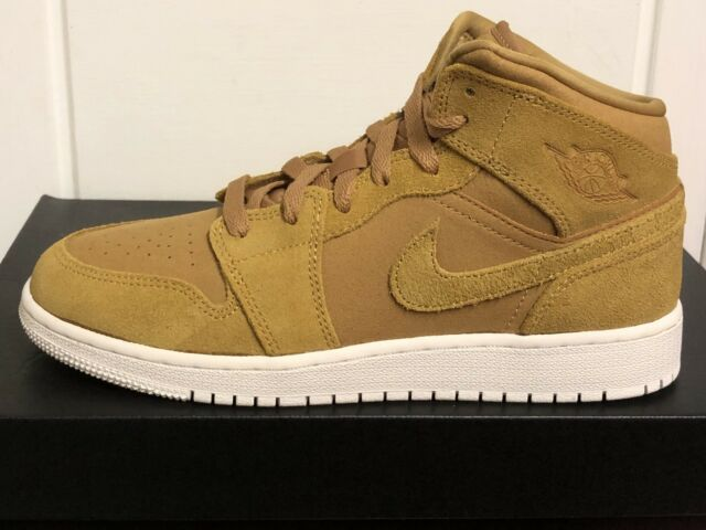 size 40 7e12a 99344 Nike Air Jordan 1 Mid Boys Mens Trainers SNEAKERS Shoes UK 5 EUR 38