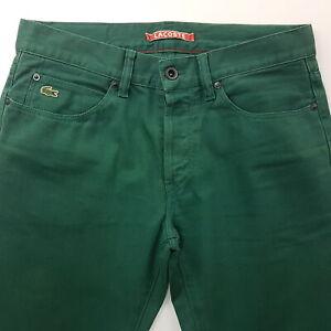 LACOSTE-Vintage-Pour-Homme-Jeans-W30-L31-vert-slim-fit-straight-taille-basse