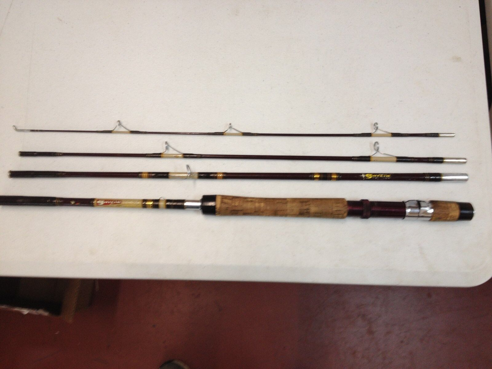 Garcia Conolon 3 Star B542-D 7.5 ft Dry Fly  Light action 1 4-1 2 oz fly rod 8lb  beautiful