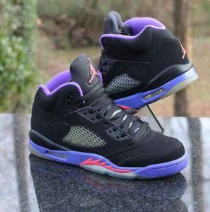 size 40 1828e fe72f Details about Nike Air Jordan 5 Retro GS Size 5.5Y Raptors Black Fierce  Purple 440892-017